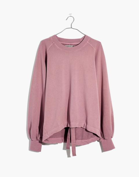 Bubble-Sleeve Drawstring Sweatshirt