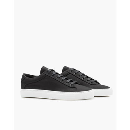 Koio Capri Nero Low-Top Sneakers in Black Canvas