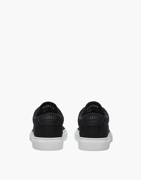 Unisex Koio Capri Nero Low-Top Sneakers in Black Canvas