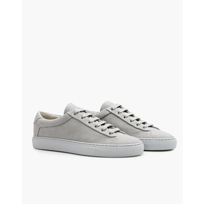 Koio Capri Perla Low-Top Sneakers in Grey Canvas