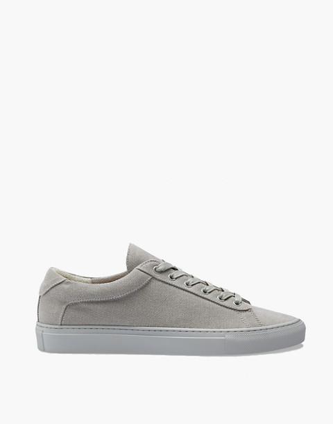 Unisex Koio Capri Perla Low-Top Sneakers in Grey Canvas