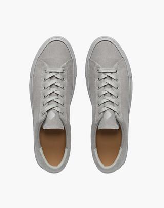 Unisex Koio Capri Perla Low-Top Sneakers in Grey Canvas in grey image 2