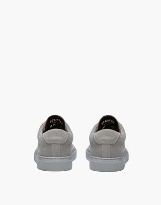 Unisex Koio Capri Perla Low-Top Sneakers in Grey Canvas in grey image 3