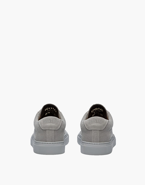 Unisex Koio Capri Perla Low-Top Sneakers in Grey Canvas in grey image 3