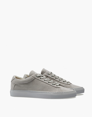 Unisex Koio Capri Perla Low-Top Sneakers in Grey Canvas in grey image 1