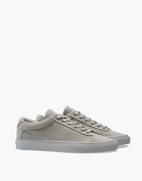 Unisex Koio Capri Perla Low-Top Sneakers in Grey Canvas in grey image 1