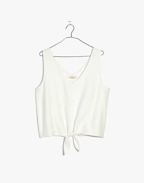 Texture & Thread Tie-Front Tank Top