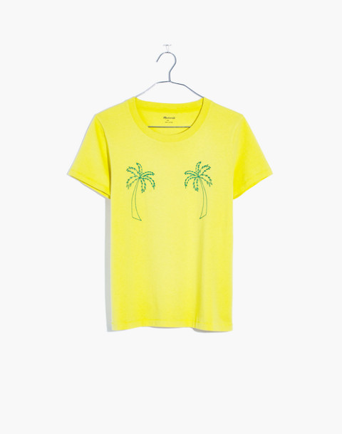 Embroidered Palm Radio Boxy Tee
