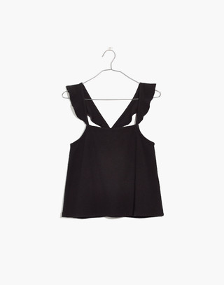 Texture & Thread Ruffle-Strap Tank Top