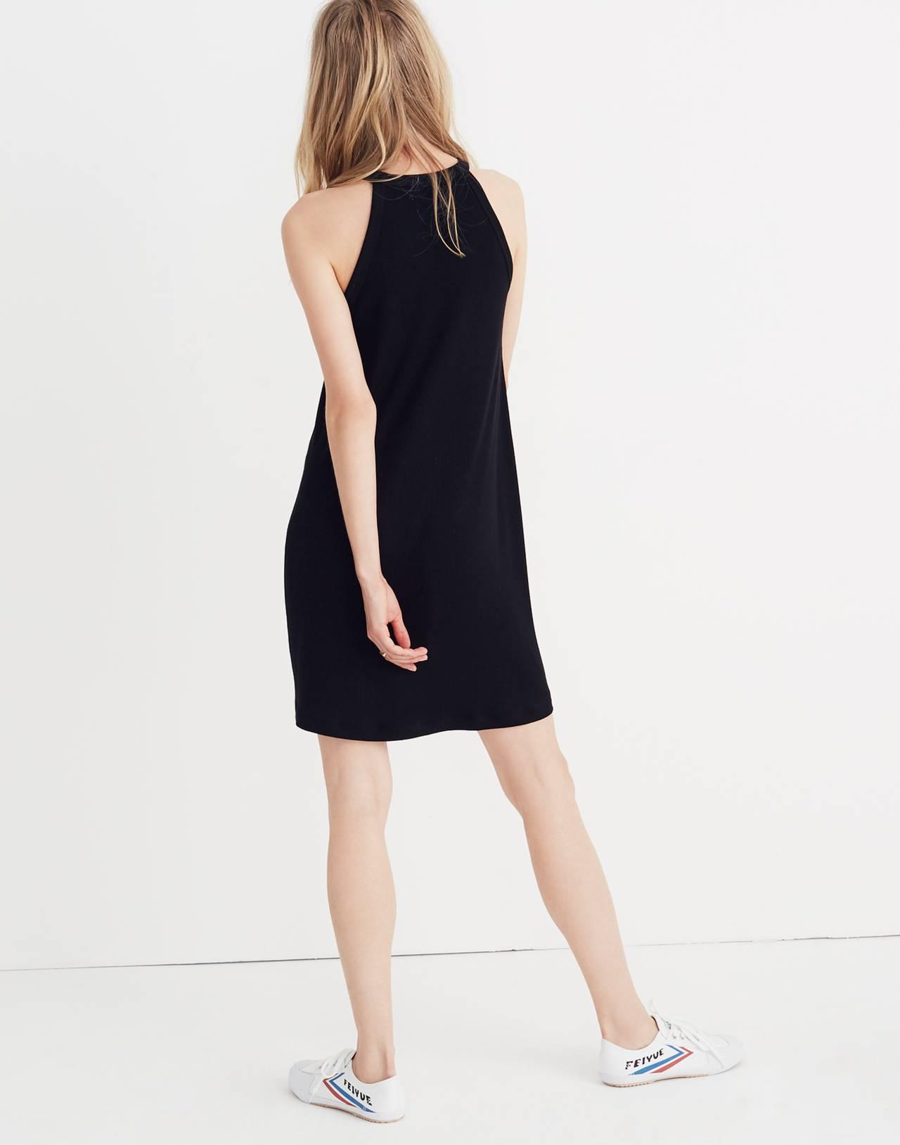 District Dress in true black image 2