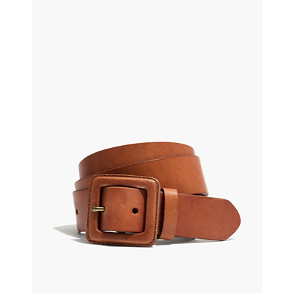 Leather Covered Buckle Belt by Madewell