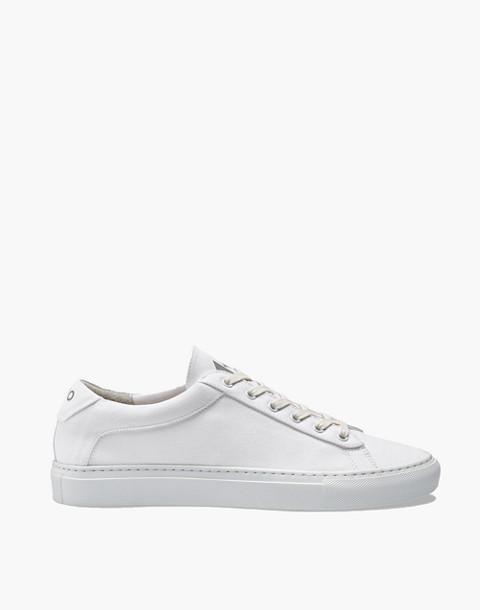 Unisex Koio Capri Bianco Low-Top Sneakers in White Canvas