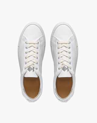 Unisex Koio Capri Bianco Low-Top Sneakers in White Canvas in white image 2