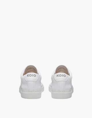 Unisex Koio Capri Bianco Low-Top Sneakers in White Canvas in white image 3