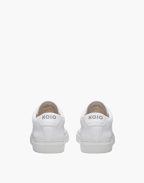 Unisex Koio Capri Bianco Low-Top Sneakers in White Canvas