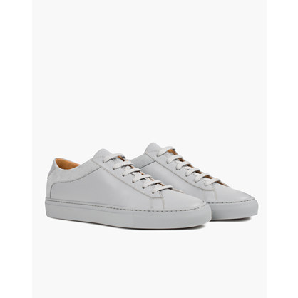 Koio Capri Perla Low-Top Sneakers in Grey Leather