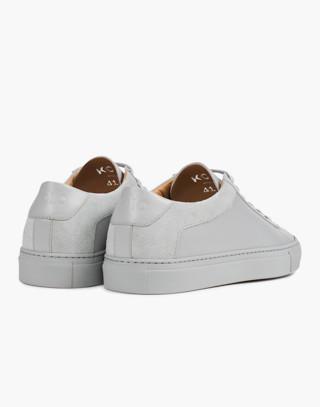 Unisex Koio Capri Perla Low-Top Sneakers in Grey Leather in grey image 2