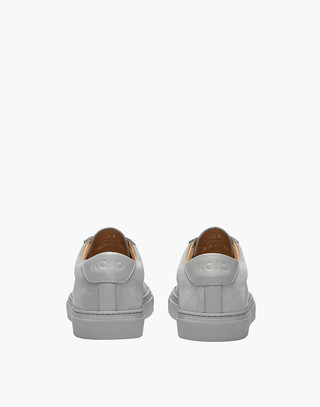 Unisex Koio Capri Perla Low-Top Sneakers in Grey Leather in grey image 3