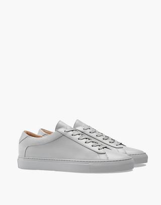 Unisex Koio Capri Perla Low-Top Sneakers in Grey Leather in grey image 1