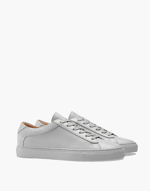 Unisex Koio Capri Perla Low-Top Sneakers in Grey Leather in grey image 1