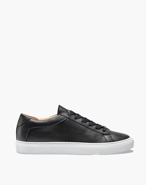 Unisex Koio Capri Onyx Low-Top Sneakers in Black Leather