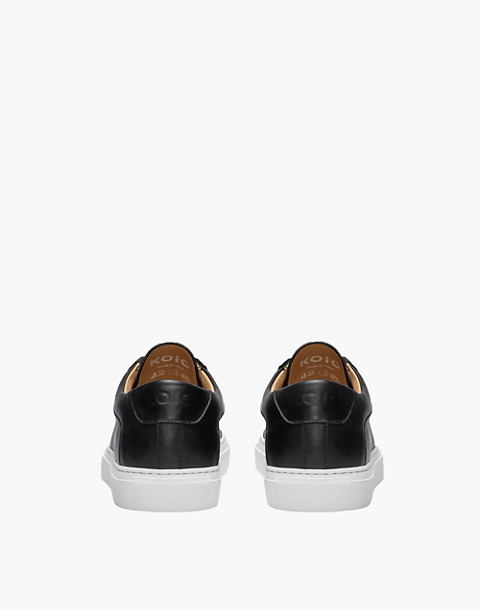 Unisex Koio Capri Onyx Low-Top Sneakers in Black Leather in black image 3