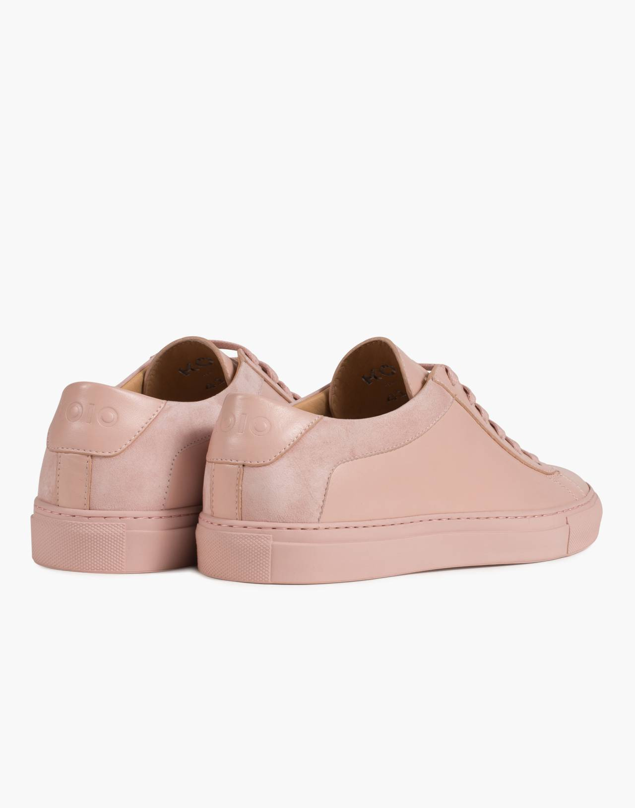 Unisex Koio Capri Fiore Low-Top Sneakers in Pink Leather in pink image 2