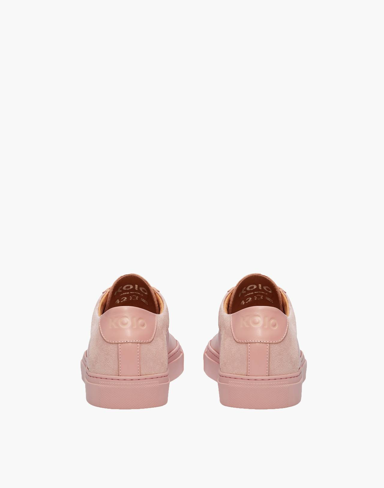 Unisex Koio Capri Fiore Low-Top Sneakers in Pink Leather in pink image 3