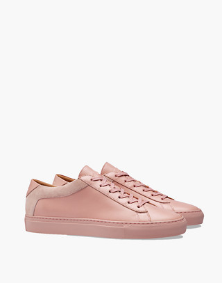 Unisex Koio Capri Fiore Low-Top Sneakers in Pink Leather