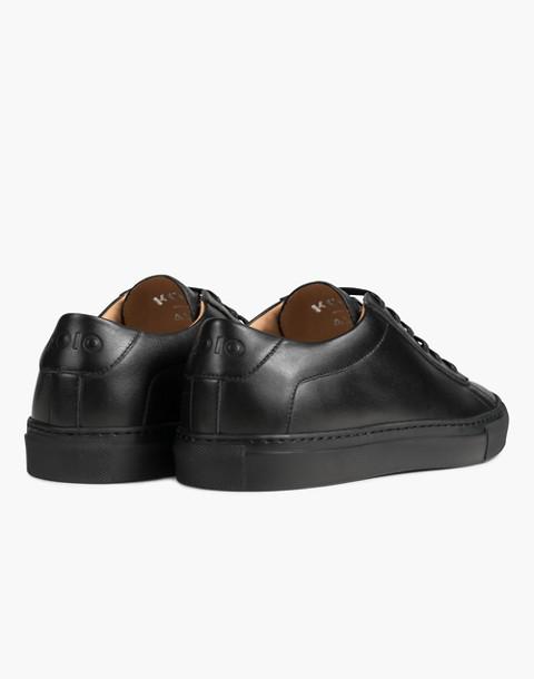 Unisex Koio Capri Nero Low-Top Sneakers in Black Leather in black image 2