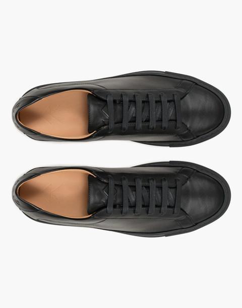 Unisex Koio Capri Nero Low-Top Sneakers in Black Leather in black image 3