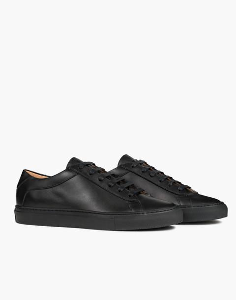 Unisex Koio Capri Nero Low-Top Sneakers in Black Leather in black image 1