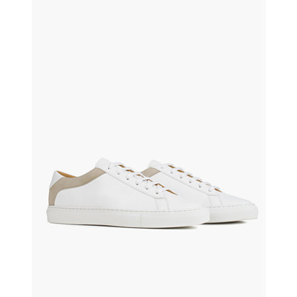 Koio Capri Bianco Low-Top Sneakers in White Leather