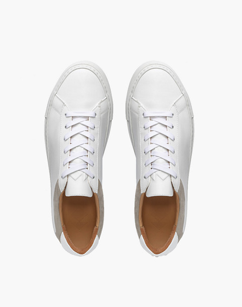 Unisex Koio Capri Bianco Low-Top Sneakers in White Leather in white image 2