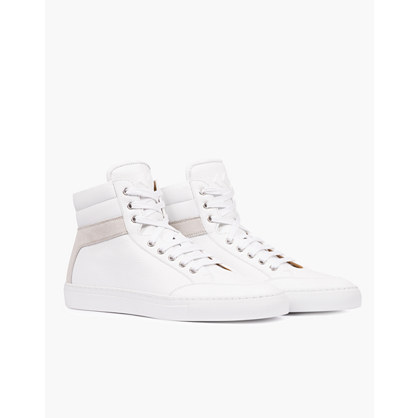 Koio Primo Bianco High-Top Sneakers in White Leather