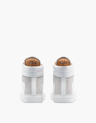 Unisex Koio Primo Bianco High-Top Sneakers in White Leather