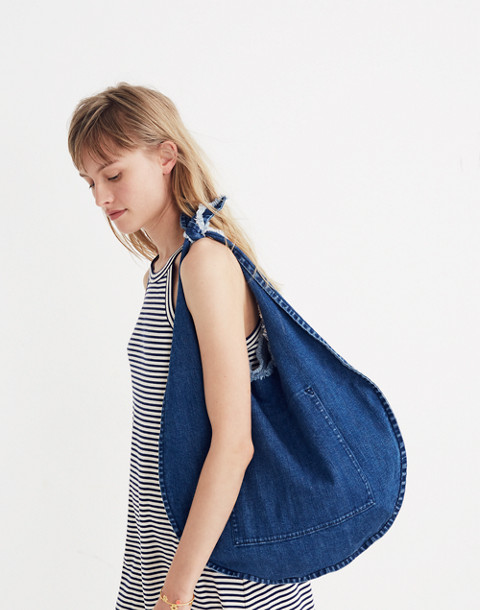 Denim Knotted Tote in nightfall image 2