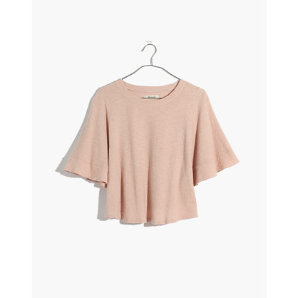 Texture & Thread Flutter Sleeve Top by Madewell