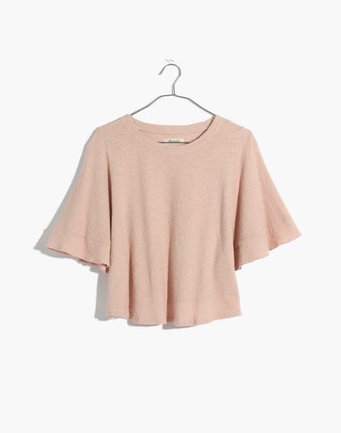Texture & Thread Flutter-Sleeve Top in peach blush image 1