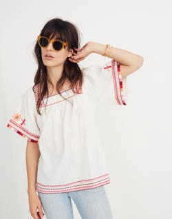 Embroidered Sandblossom Top