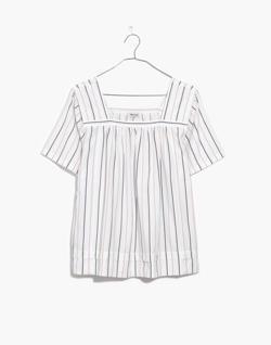 Striped Square-Neck Top