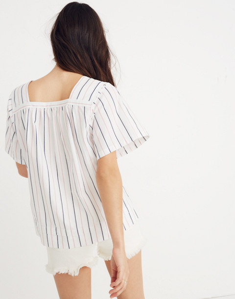 Striped Square-Neck Top in lulu stripe image 2