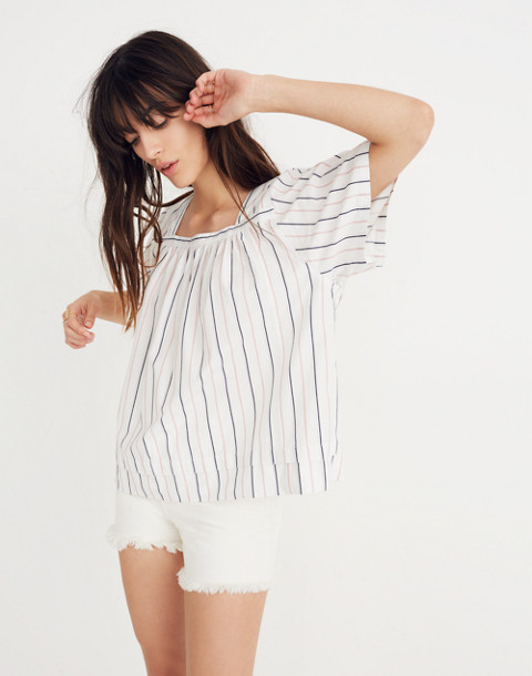 Striped Square-Neck Top in lulu stripe image 3