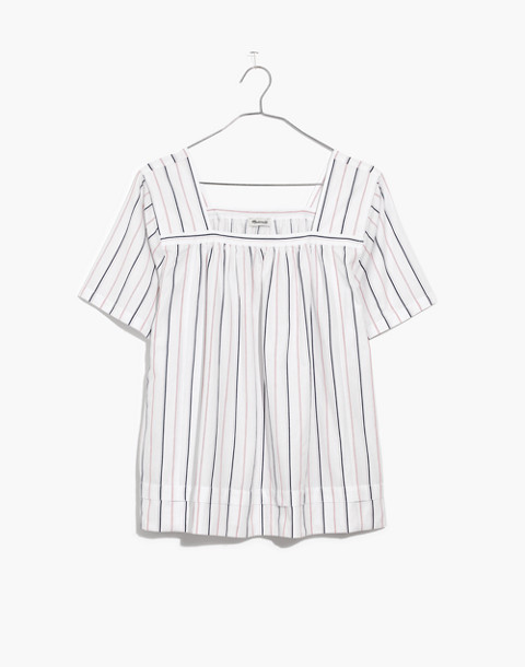 Striped Square-Neck Top in lulu stripe image 4