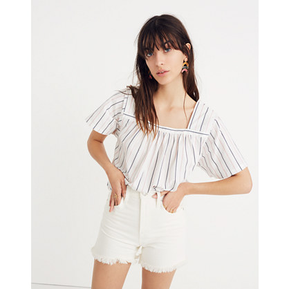 Striped Square Neck Top by Madewell