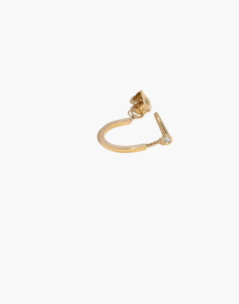 Madewell x Still House™ Single 14k Gold Rytas Diamond Earring in gold image 1