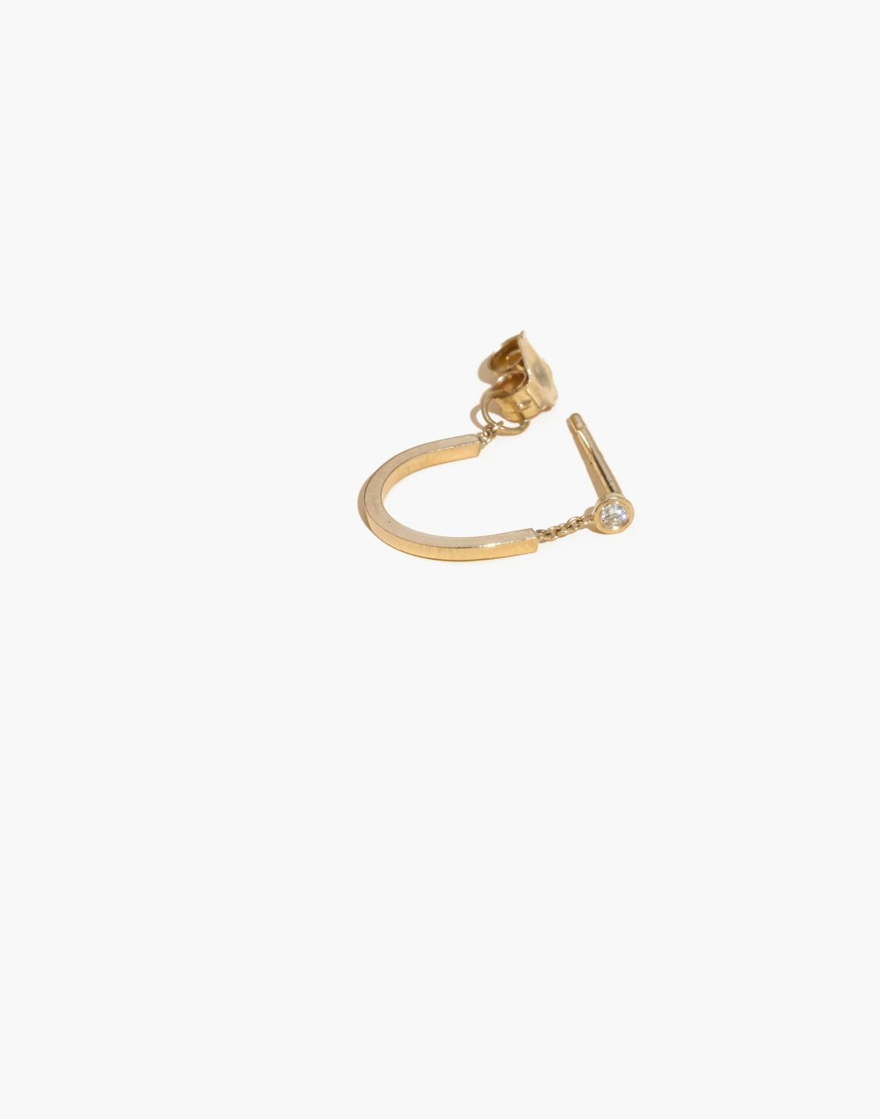 Madewell x Still House™ Single 14k Gold Rytas Diamond Earring in gold image 1