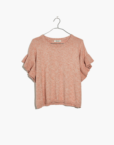 Ruffle-Sleeve Sweater Tee