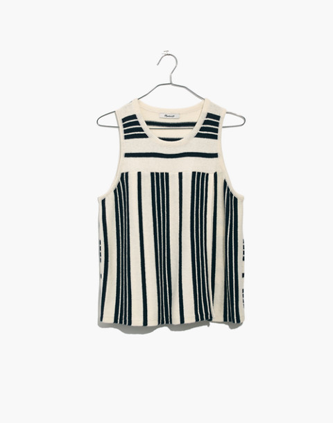 Stripe-Play Sweater Tank in bright ivory image 4