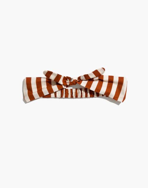 Knotted Headband in warm nutmeg image 1